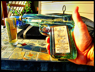 Shootin' tequila....