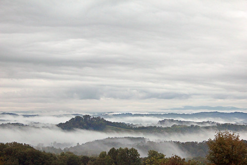 morning sky mist mountains fog mystery clouds rural forest sunrise outdoors countryside country creepy hills dew condensation moisture precipation