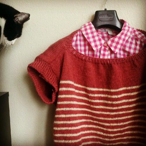 FO: linen stripe pullover