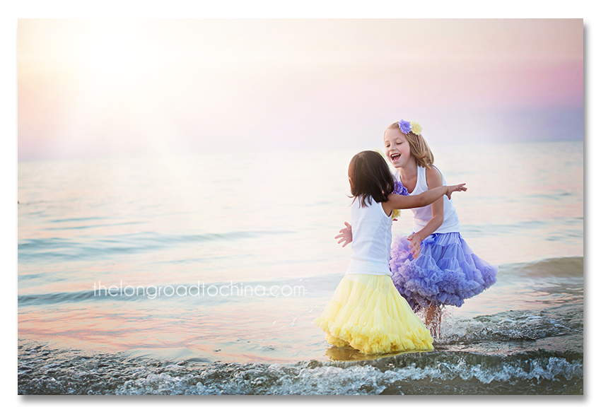 Sisters Hugging on the Beach2 BLOG