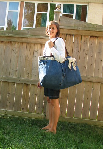 Refashioned Jeans Tote Bag