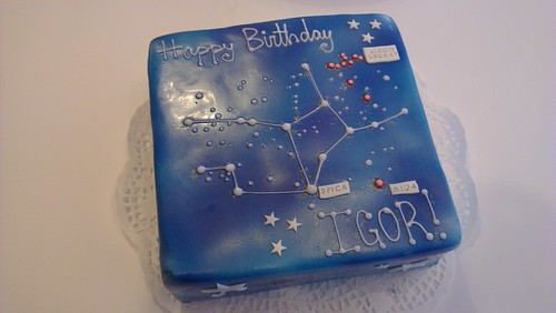 Virgo Star Constellation Cake by CAKE Amsterdam - Cakes by ZOBOT