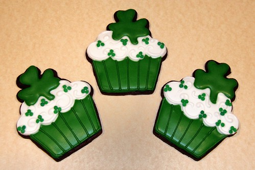 St. Patrick's Day Cupcake Cookies