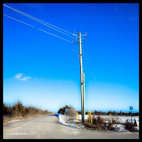 26/3/2014 - switch {new hydro lines being installed down the road; including switches!} This is coming from a new solar farm in the county. #photoaday #titlefx #switch #kingsleyrd #princeedwardcounty #bluesky #spring