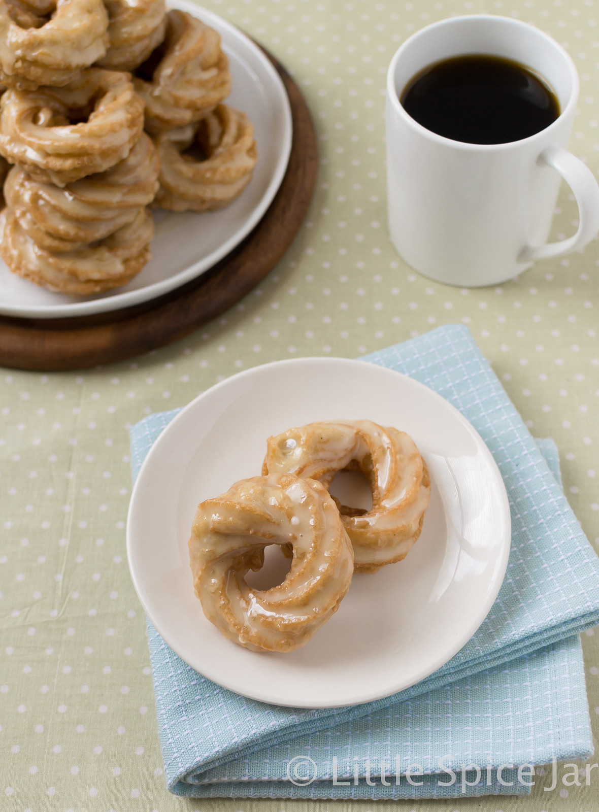 French Honey Crullers Butter Glazed Plate 2