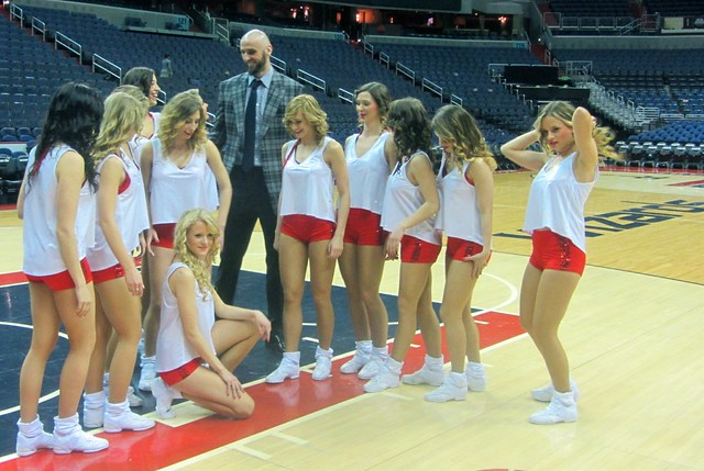 Marcin Gortat, Polish Heritage Night, washington wizards, truth about it, poland, adam mcginnis, Cheerleaders Flex Sopot, cheerleaders, routine