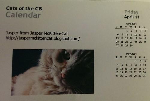 Jasper's calendar day