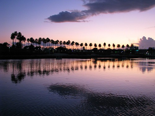 california sunset clouds longbeach