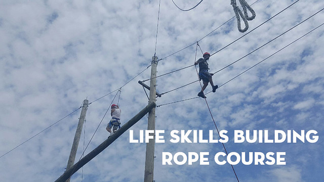 The Cove takes on life skills building rope course thumbnail