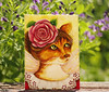 Rose Fairy Cat Garden Art