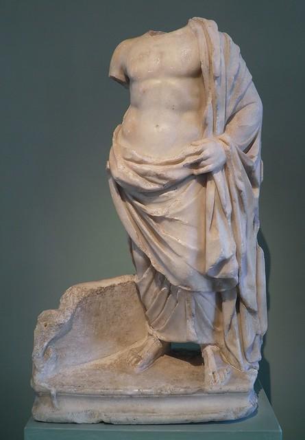 Petite statue d'Esculape acéphale, Ve siècle, MSR, Musée Saint-Raymond, Villa romaine de Chiragan, Musée des Antiques de Toulouse