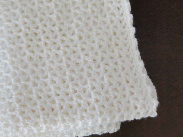 lacy white blanket