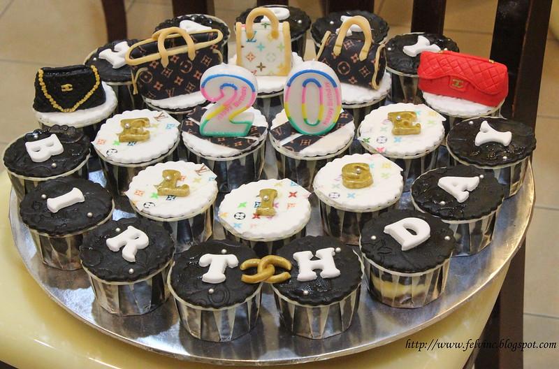 LV BAG CUP CAKE 3
