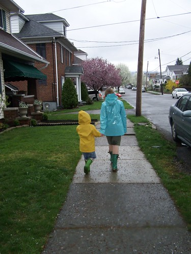 Rainy day walk