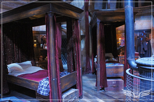 The Establishing Shot: The Making of Harry Potter Tour - Interior Sets Gryffindor Boy's Dormitory - Neville Longbottom & Dean Thomas's beds by Craig Grobler