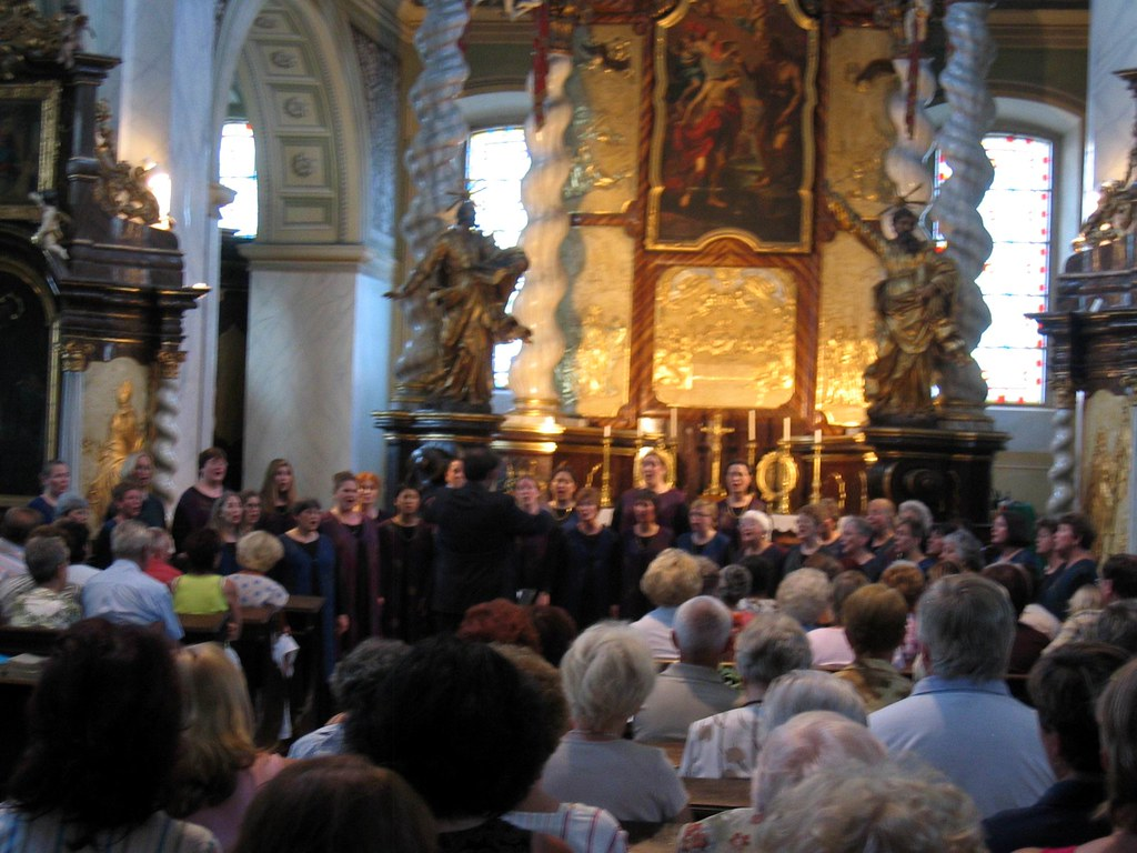 Peninsula Women's Chorus performs in the Church of St. John the Baptist in Teplice, Czech Republic