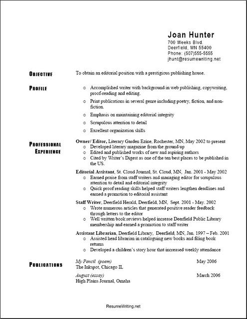 the best type of resume