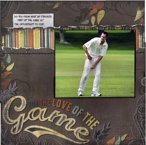 Scrapbook Page for the love of the game
