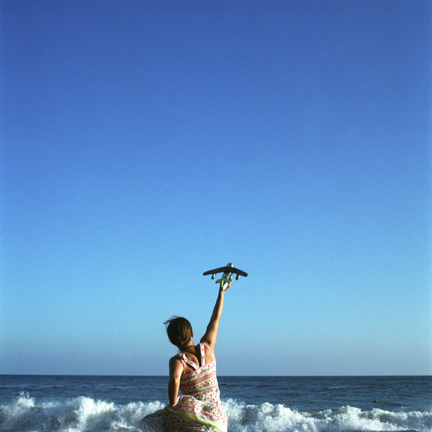 Cig Harvey, Plane, Self-Portrait (From the Series The Impossible Tasks_, Los Angeles, California, 2004