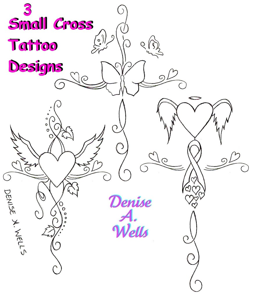 Small Girly Cross Tattoo Designs By Denise A Wells Flickr