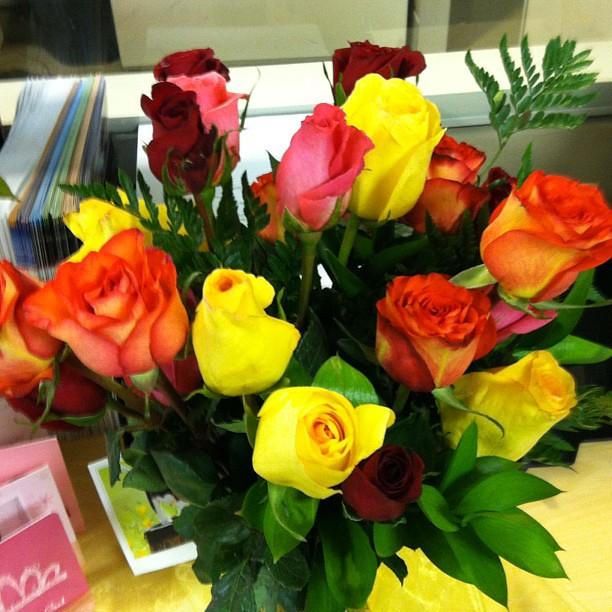Beautiful Flower Thank You: Beautiful Flowers For My Birthday! I Had A Wonderful Day