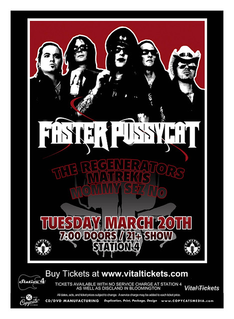 03/20/12 Faster Pussycat/The Regenerators/Matrekis/Mommy Sez No @ Station 4, St. Paul, MN