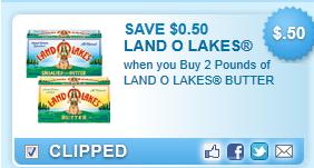 Land O Lakes Butter  Coupon