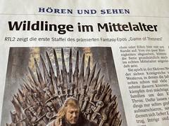 WAZ-Bericht über Game of Thrones