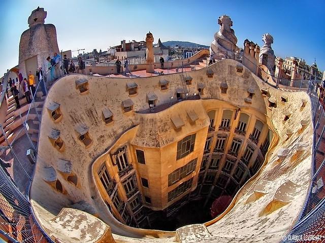 Spanien barcelona la pedrera casa mila flickr photo sharing - Casa mila la pedrera ...