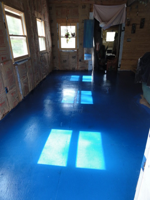 New Blue Floor!