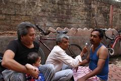 Marziya Shakir Shoots The Street Barber and Two Street Photographers by firoze shakir photographerno1