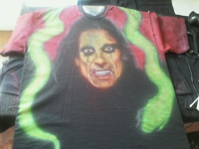 alice cooper airbrushed t shirt flickr photo sharing