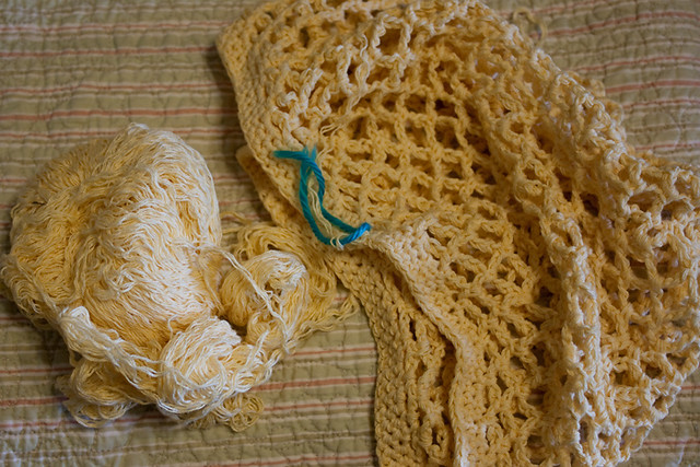 WIP:  Crochet Mesh Bag