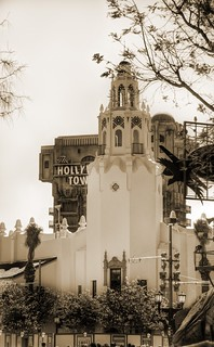 Sepia Saturday Carthay Circle Theatre, HDR Disney California Adventure