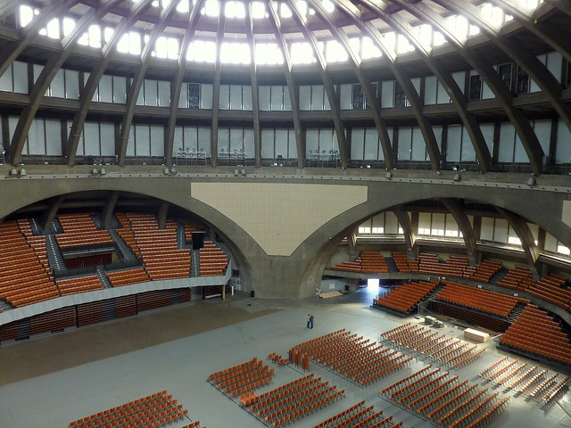 Inside the Centennial Hall (Wroclaw, Poland) (Unesco world heritage)