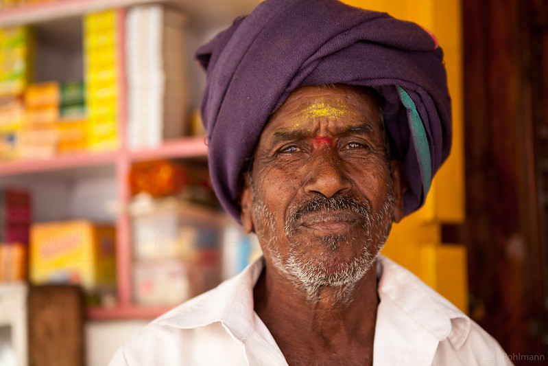 Portrait of a man in Badami