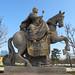 Estatua de la emperatriz María Teresa a caballo.Jardines Palacio de Grassalkovich - Bratislava - República Eslovaca