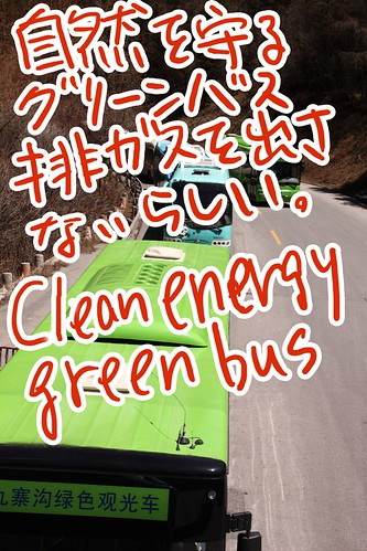 Clean energy green bus