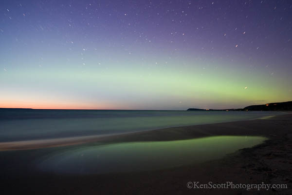 Good Harbor Bay ... aurora borealis reflected