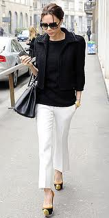 Victoria Beckham Cap Toe Heels Celebrity Styling Fashion