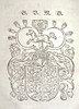 Woodcut arms probably to be associated with the principality of Braunschweig-Lüneburg-Wolffenbüttel; used by Conrad Horn of Wolfenbüttel by Penn Provenance Project