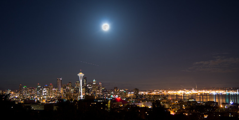 Supermoon Seattle