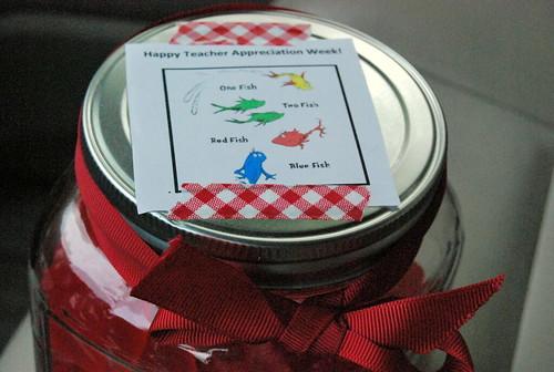 Red Fish Jar - Teacher Appreciation Week