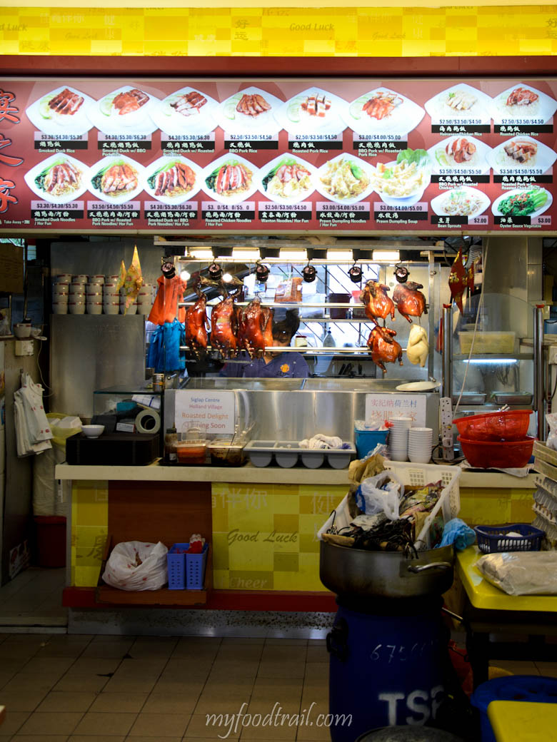 Singapore Hawker Food - Roast on rice shop