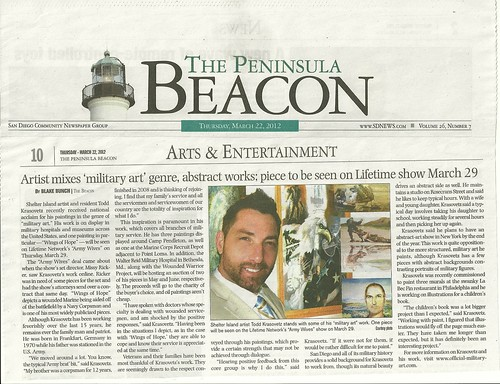 News Publication Artist Todd Krasovetz the Beacon Peninsula article March 20120001