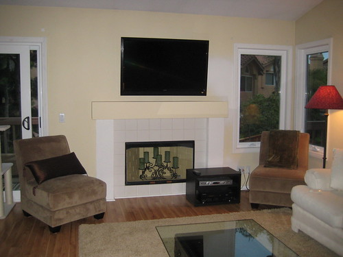 wood fireplace without hearth - Google Search