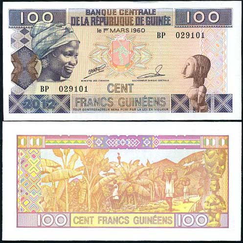 100 Frankov Guinea 2012, Pick 35c