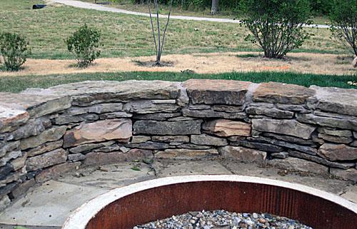 Firepit retaining wall jennifer cameron