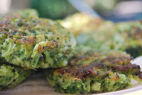 Broccoli Parmesan Fritters - Side Shot