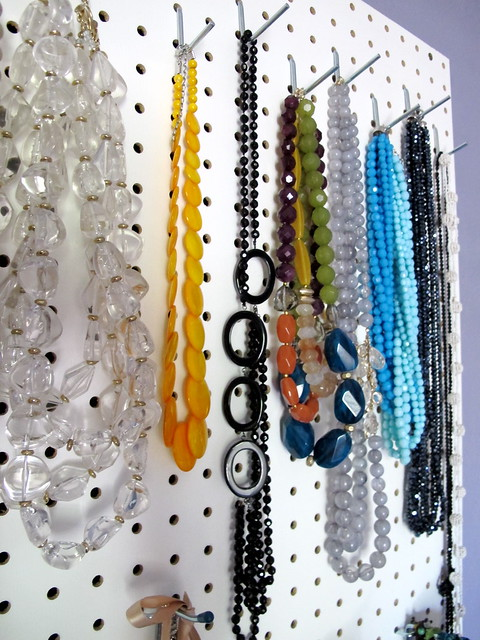 Pretty necklaces all in a row